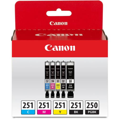 Canon PGI-250 & CLI-251 5-Cartridge Value Pack