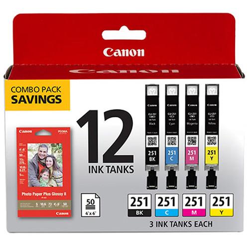 Canon CLI-251 CMYK 12-Cartridge Ink Set