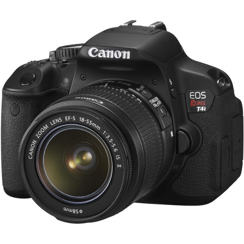 Canon EOS Rebel T4i Digital Camera with EF-S 18-55mm f/3.5-5.6 IS II Lens