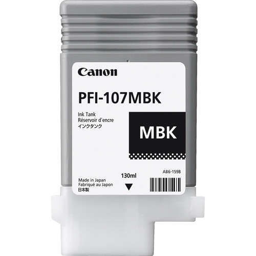 Canon PFI-107MBK Matte Black Ink Cartridge (130 ml)