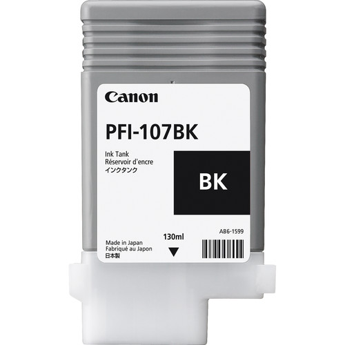 Canon PFI-107BK Black Ink Cartridge (130 ml)