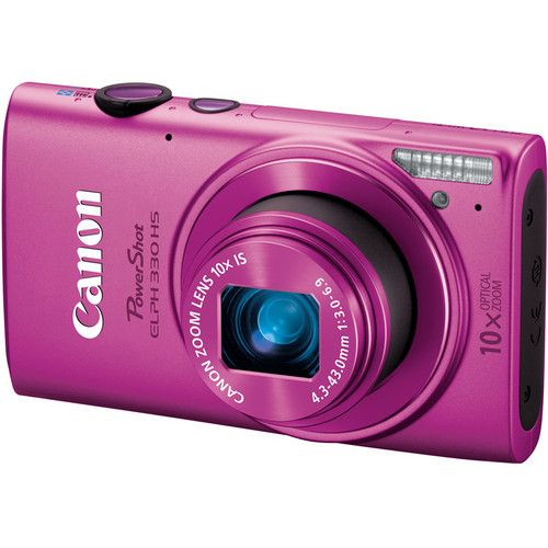 Canon PowerShot ELPH 330 HS Digital Camera (Pink)