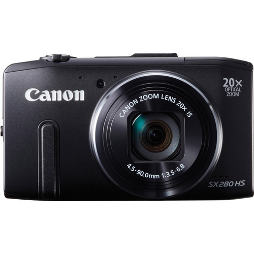 Canon PowerShot SX280 HS Digital Camera (Black)