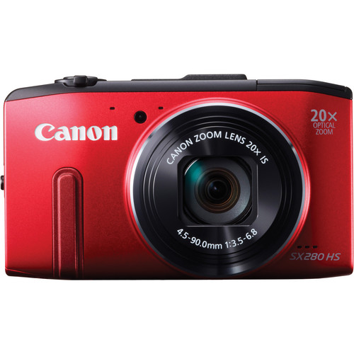 Canon PowerShot SX280 HS Digital Camera (Red)