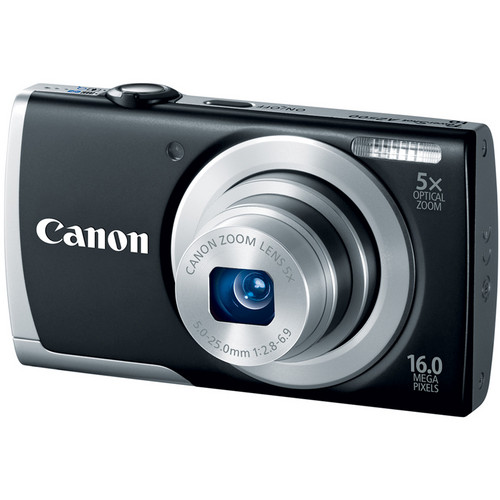 Canon PowerShot A2500 Digital Camera (Black)
