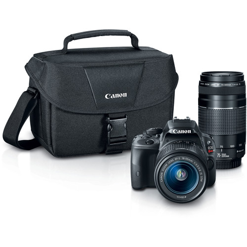 Canon EOS Rebel SL1 DSLR Camera with 18-55mm and 75-300mm Lenses Bundle