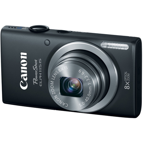 Canon PowerShot ELPH 115 IS Digital Camera (Black)