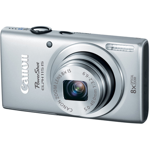 Canon PowerShot ELPH 115 IS Digital Camera (Silver)