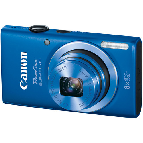 Canon PowerShot ELPH 115 IS Digital Camera (Blue)