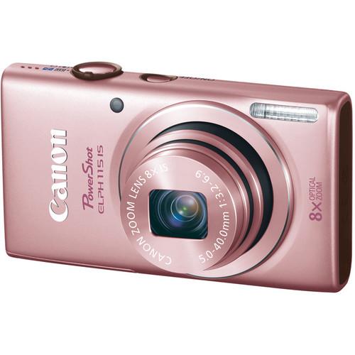 Canon PowerShot ELPH 115 IS Digital Camera (Pink)