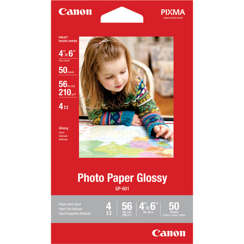 "Canon Photo Paper Glossy (4 x 6"", 50 Sheets)"