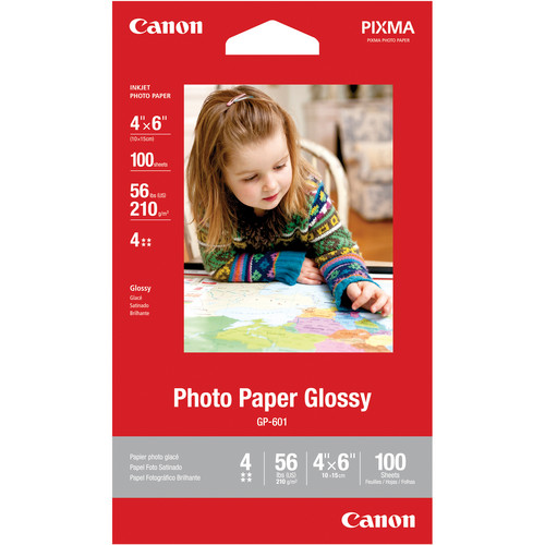 "Canon Photo Paper Glossy (4 x 6"", 100 Sheets)"