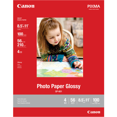 "Canon Photo Paper Glossy (8.5 x 11"", 100 Sheets)"