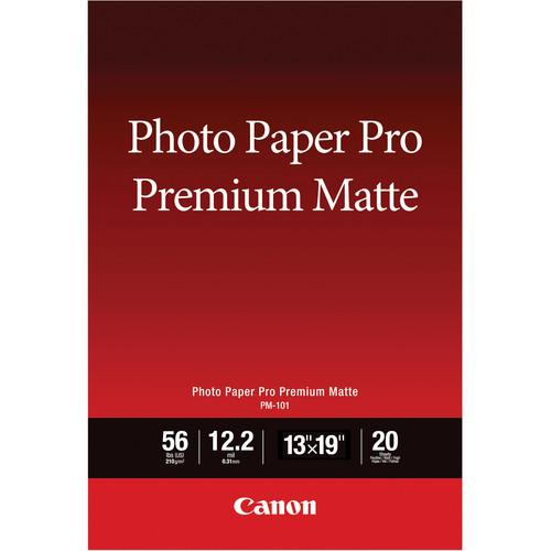 "Canon PM-101 Photo Paper Pro Premium Matte (13 x 19"", 20 Sheets)"