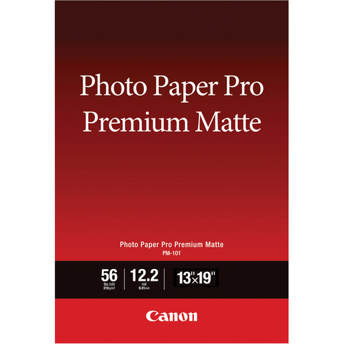 "Canon PM-101 Photo Paper Pro Premium Matte (13 x 19"", 50 Sheets)"