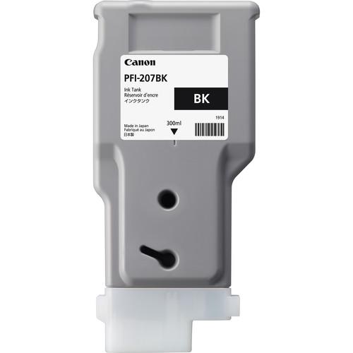 Canon PFI-207BK Black Ink Cartridge (300 ml)