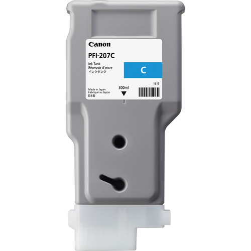 Canon PFI-207C Cyan Ink Cartridge (300 ml)