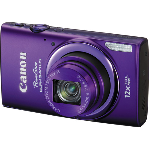 Canon PowerShot ELPH 340 HS Digital Camera (Purple)