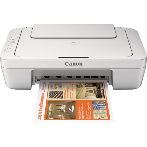Canon PIXMA MG2924 Wireless Photo All-in-One Inkjet Printer (White)