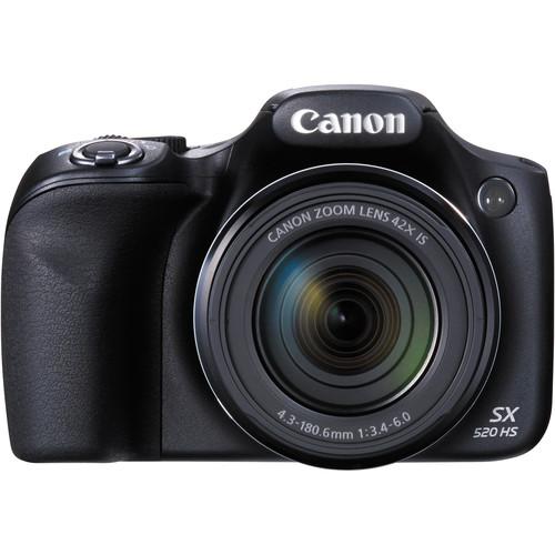 Canon PowerShot SX520 HS Digital Camera (Black)