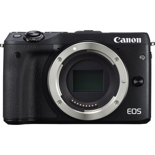 Canon EOS M3 Mirrorless Digital Camera (Body Only, Black)