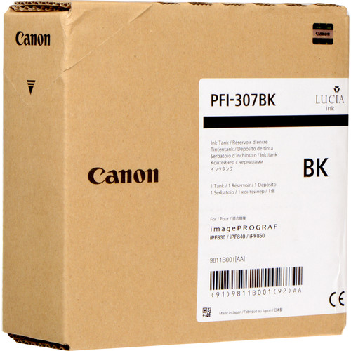 Canon PFI-307BK Black Ink Cartridge (330 mL)