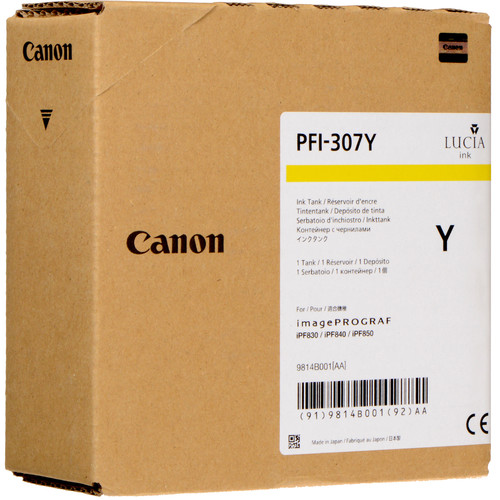 Canon PFI-307Y Yellow Ink Cartridge (330 mL)
