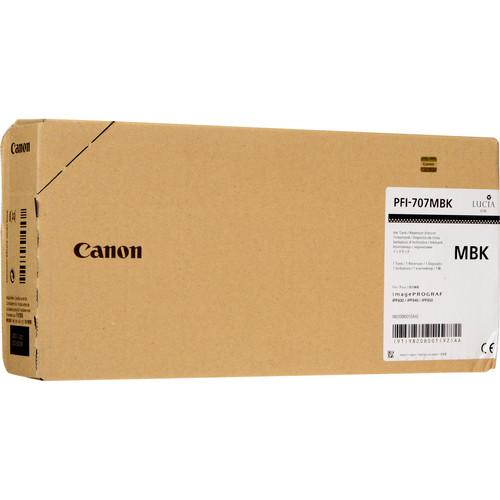 Canon PFI-707MBK Matte Black Ink Cartridge (700 mL)