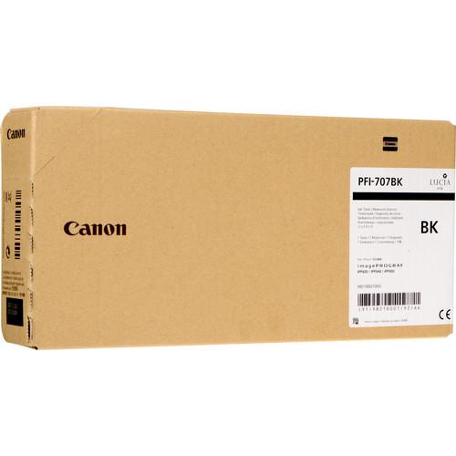 Canon PFI-707BK Black Ink Cartridge (700 mL)