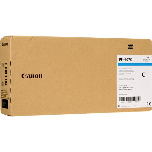 Canon PFI-707C Cyan Ink Cartridge (700 mL)