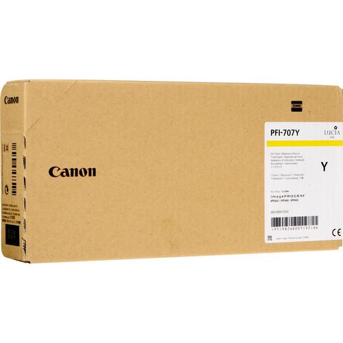 Canon PFI-707Y Yellow Ink Cartridge (700 mL, 3-Pack)