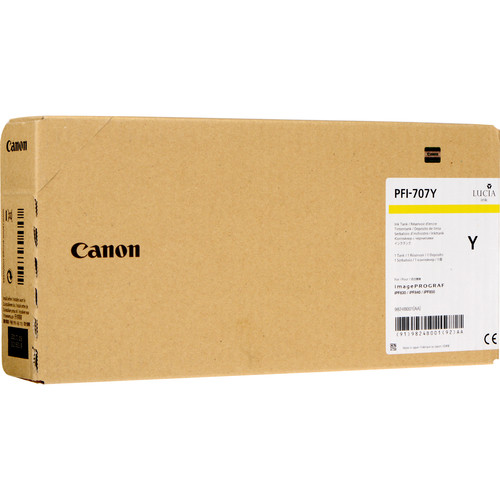 Canon PFI-707Y Yellow Ink Cartridge (700 mL, 3-Pack)