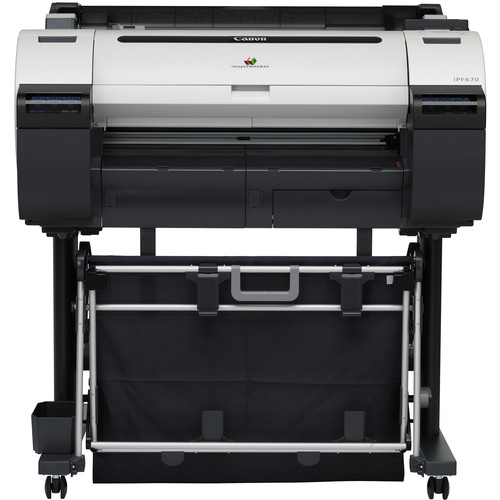 "Canon imagePROGRAF iPF670 24"" Large-Format Inkjet Printer with Stand"
