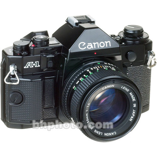 used canon a 1 35mm slr manual focus camera with 50mm f  1 4 fd canon cameras manual focus Canon Camera Manuals Printed