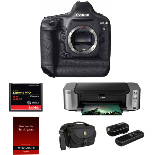 Canon EOS-1D X DSLR Camera with PIXMA PRO-100 Printer Kit