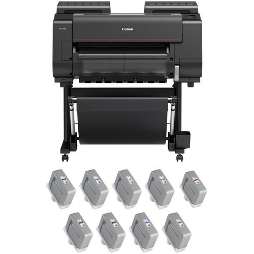 "Canon imagePROGRAF PRO-2000 24"" Large Format Printer with PFI-1300 LUCIA PRO Ink Tank Bundle"