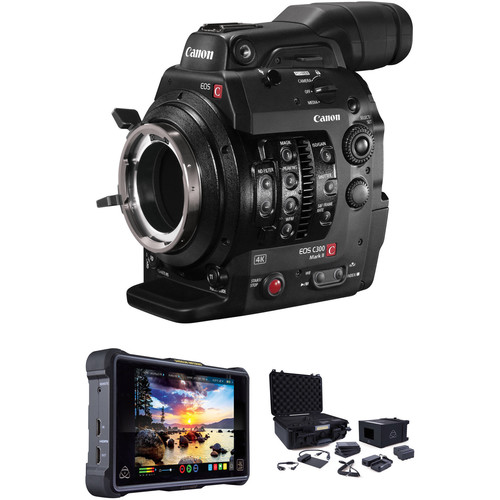 Canon C300 Mark II ProRes RAW Atomos Kit with Accessories (PL Mount)