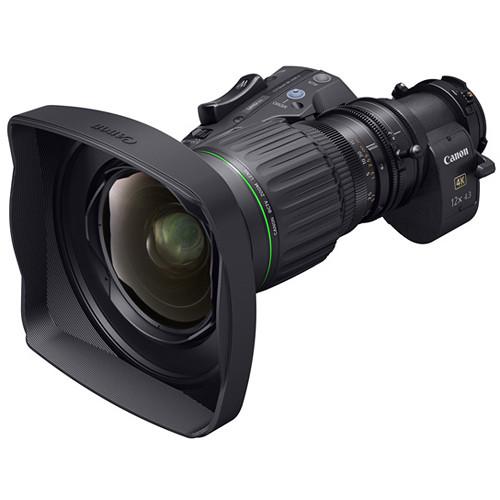Canon 4.3-52mm 4K UHD Portable Semi-Servo Lens with 2x Extender