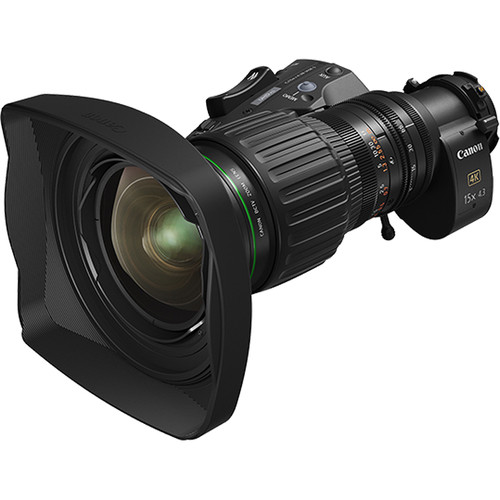 Canon 15X 4K UHD Portable Wide-Angle Zoom Lens With 2X Extender