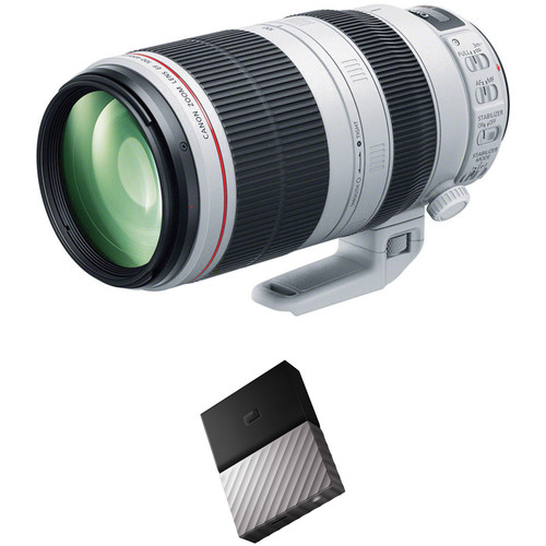 Canon EF 100-400mm f/4.5-5.6L IS II USM Lens with External Hard Drive Kit