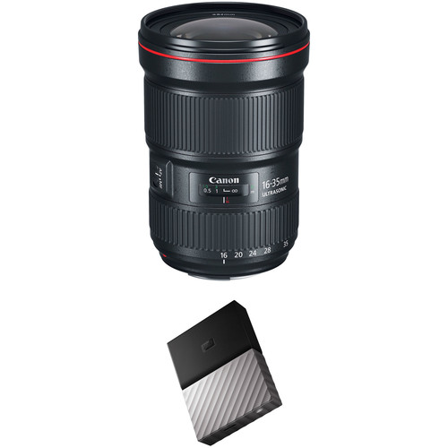 Canon EF 16-35mm f/2.8L III USM Lens with External Hard Drive Kit