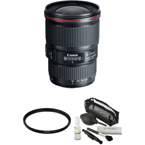 Canon EF 16-35mm f/4L IS USM Lens with Accessories Kit