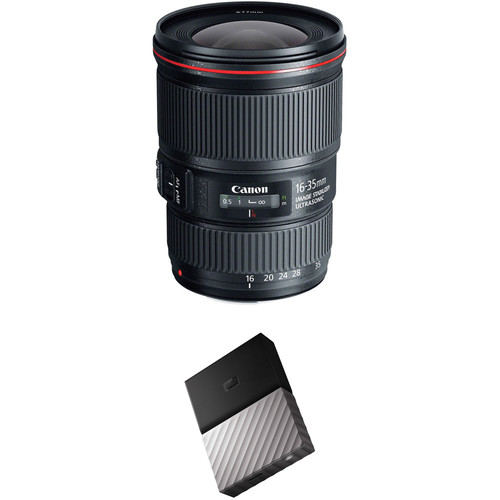 Canon EF 16-35mm f/4L IS USM Lens with External Hard Drive Kit