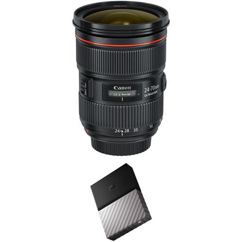 Canon EF 24-70mm f/2.8L II USM Lens with External Hard Drive Kit