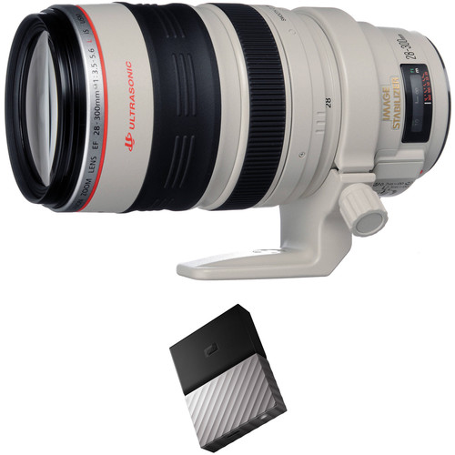 Canon EF 28-300mm f/3.5-5.6L IS USM Lens with External Hard Drive Kit