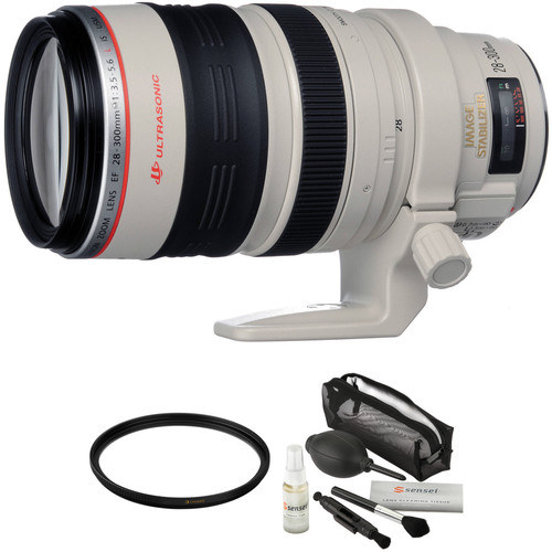 Canon EF 28-300mm f/3.5-5.6L IS USM Lens with Accessories Kit