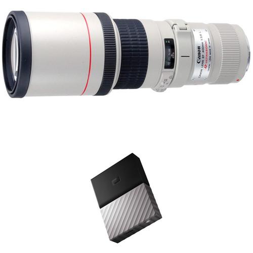 Canon EF 400mm f/5.6L USM Lens with External Hard Drive Kit