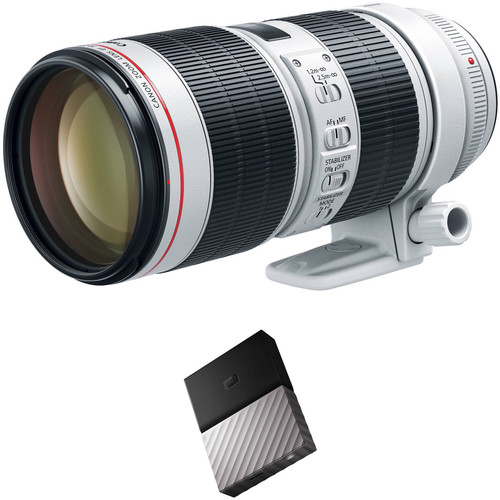 Canon EF 70-200mm f/2.8L IS III USM Lens with External Hard Drive Kit