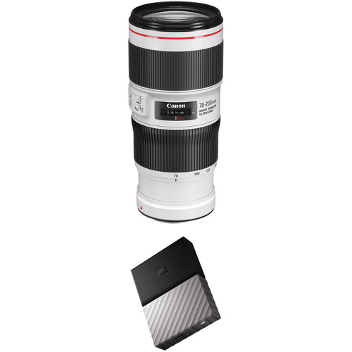 Canon EF 70-200mm f/4L IS II USM Lens with External Hard Drive Kit