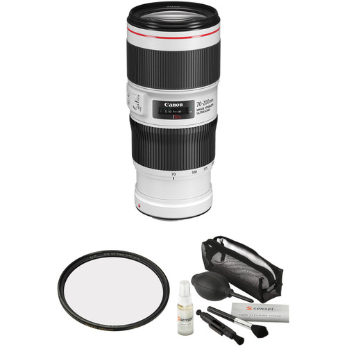 Canon EF 70-200mm f/4L IS II USM Lens with Accessories Kit